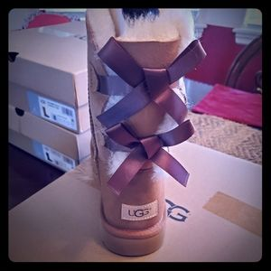 Brand new bailey bow ugg boots